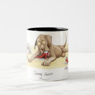 'Jimmy chews' Mug. Two-Tone Mug