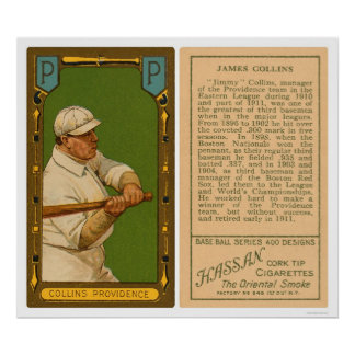 Jimmy Collins Providence Baseball 1911 Poster