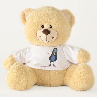 Jimmy, lean into the wind...birdie teddy bear