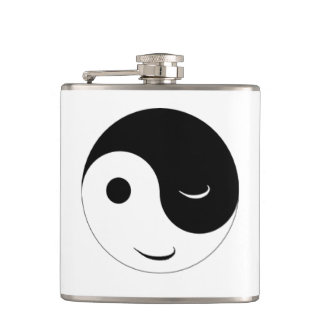 Jin Jang Smiley Flask