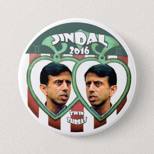 Jindal for president 2016 7.5 cm round badge