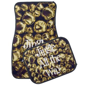 Jingle All the Way Gold Bells Floor Mat