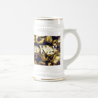 Jingle All the Way Gold Bells Stein 18 Oz Beer Stein