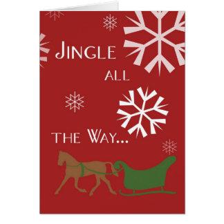 Jingle All The Way Holiday Christmas Greeting Card