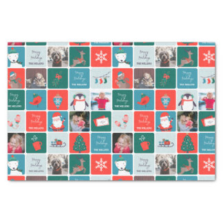 Jingle and Mingle Holiday Photo Tissue Paper
