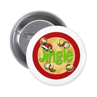 JIngle Bells 6 Cm Round Badge
