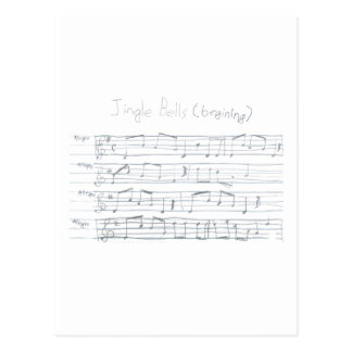 Jingle Bells Beginning Postcard