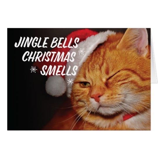 Jingle Bells Christmas Smells Christmas Card