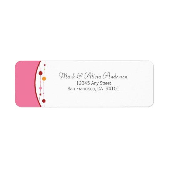Jingle Bells Holiday Return Address Label (pink)