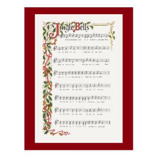 Jingle Bells musical score Postcard
