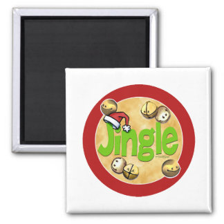 JIngle Bells Square Magnet
