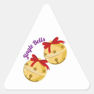 Jingle Bells Triangle Sticker