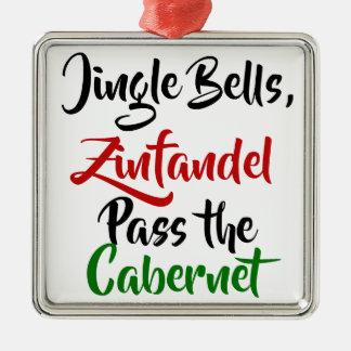 Jingle Bells, Zinfandel, Pass the Cabernet Christmas Ornament