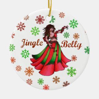 Jingle Belly Dancer Round Ceramic Decoration
