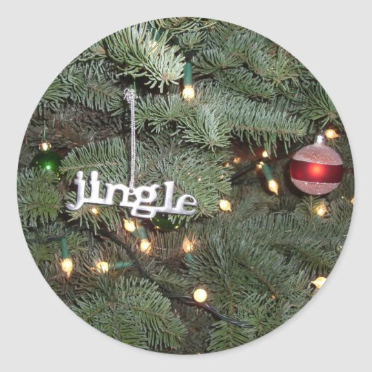 Jingle Christmas Tree Sticker