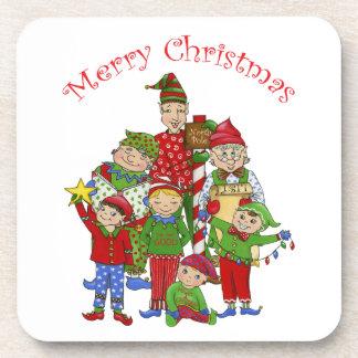 Jingle Elves (Set one) Coaster