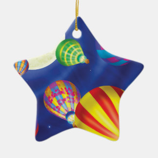 Jingle Jingle Little Gnome Balloon Ornament Ceramic Star Ornament