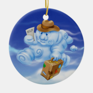 Jingle Jingle Little Gnome Cloud Ornament
