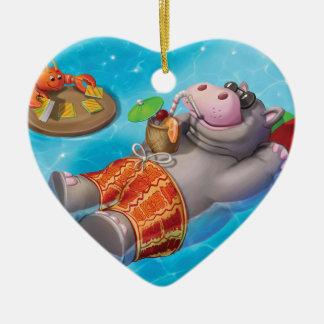 Jingle Jingle Little Gnome Happy Hippo Ornament