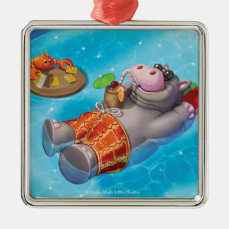 Jingle Jingle Little Gnome Happy Hippo Ornament