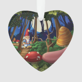 Jingle Jingle Little Gnome Heart Ornament