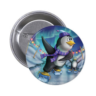 Jingle Jingle Little Gnome Party Penguin Button