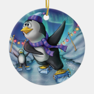 Jingle Jingle Little Gnome Party Penguin Ornament