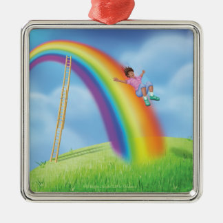 Jingle Jingle Little Gnome Rainbow Slide Ornament