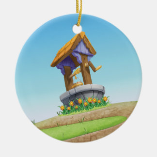 Jingle Jingle Little Gnome Wishing Well Ornament