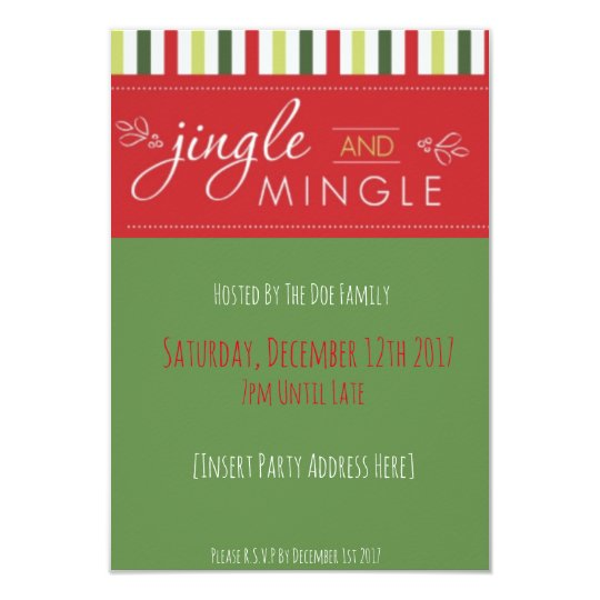 Jingle & Mingle! Christmas Party Invitation
