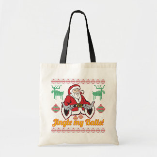Jingle My Balls Santa Claus Ugly Christmas Sweater Budget Tote Bag