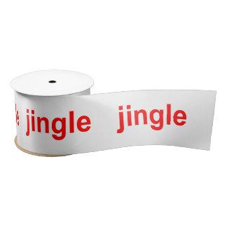 Jingle Red White Christmas Satin Ribbon