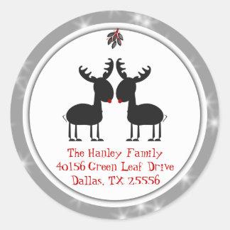 Jingles Christmas Address Label Round Sticker