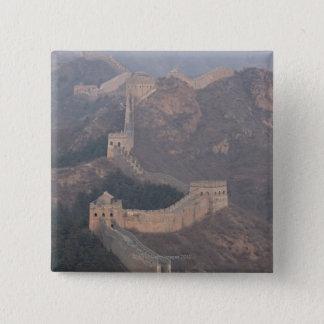 Jinshanling section, Great Wall of China 15 Cm Square Badge
