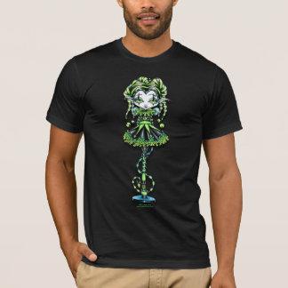 Jinxy Harlequin Green Jester Pixie T-Shirt