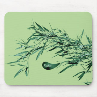 Jitaku Bamboo Leaves Green Mousepad