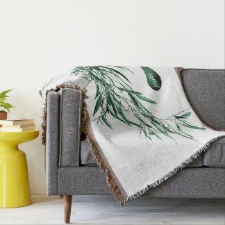 Jitaku Green Bamboo Throw Blanket