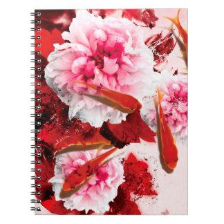 Jitaku Peony And Goldfish Art Notebook