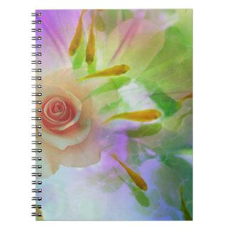 Jitaku Rose And Goldfish Art Notebook