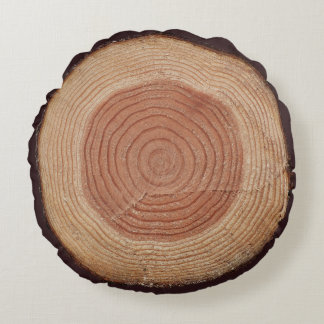 Jitaku Tree Rings Grade A Cotton Round Pillow