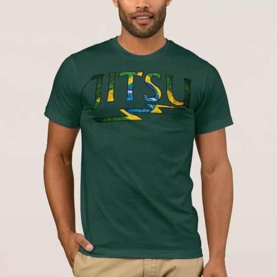 JITSU - Brazilian Jiu Jitsu Flag Design T-shirt