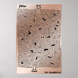 Jitter Maze Posters