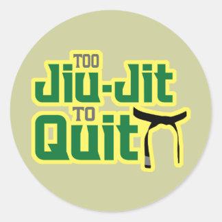 Jiu-Jitsu Round Sticker