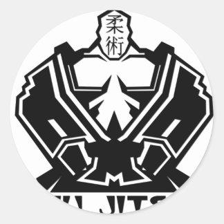 Jiu Jitsu - The Fighter Prepares Stickers