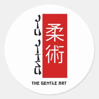 Jiu Jitsu - The Gentle Art Round Sticker