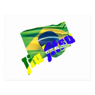 Jiu Jitsu w/ Brazil Flag Postcard