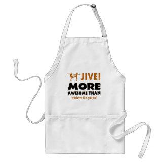 Jive dancing designs aprons