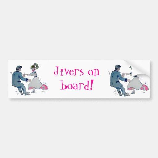 Jive Fun! swing dancing rock and roll Bumper Stickers