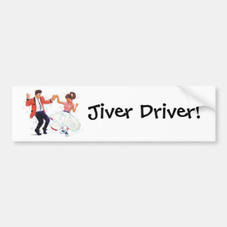 Jiver Driver Classic Rock and Roll Jive Dancing Bumper Sticker