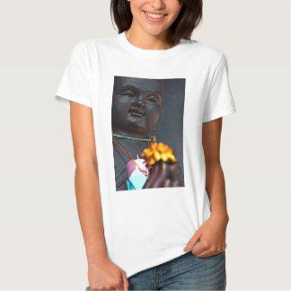 Jizo Buddha with Marigold Offering Tee Shirts